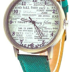 Accessories - Men's/Women's Denim Wrist Watch